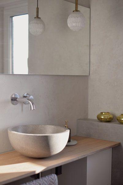 Irina Aka @irina_kapunkt Hat Sich Bei Ihrem DIY Projekt Für Ein Bad In  Betonoptik Unter Verwendung Von Sumpfkalkputz Entschieden.