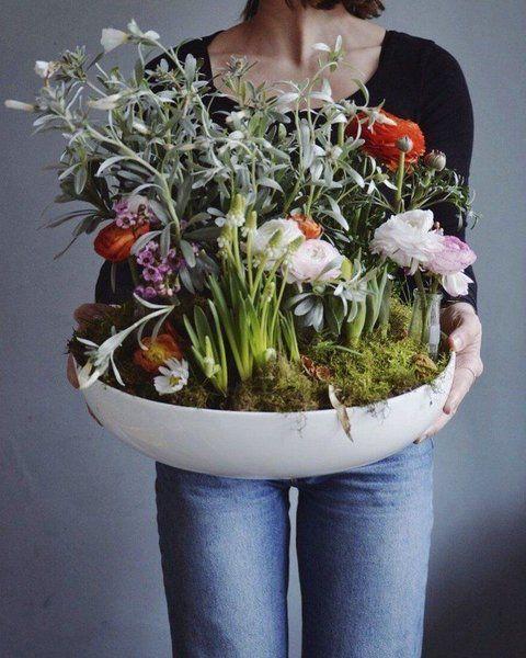 Diy Fruhlingsblumenschale Mit Wohnblock Blumen Beruhigen Mich