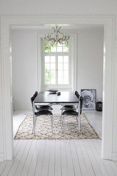 Zeitlos und klassisch: Flauschige Schwarz-Weiß-Teppiche für dein ...