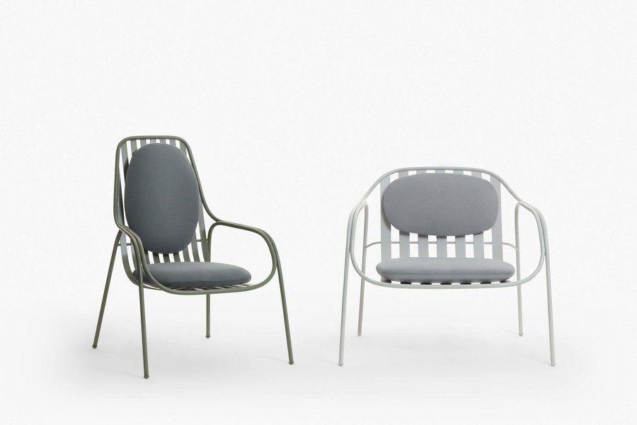 ... Der Neuen Sessel Für Paola Zani Beteiligt. Der Allaria  Und Der  Alsole Sessel Aus Edelstahl Werden Mit Den Passenden Polstern Gleich Noch  Bequemer.