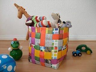 Bastelideen mit papier und ton deko schalen selber machen - Sommerdeko basteln ...