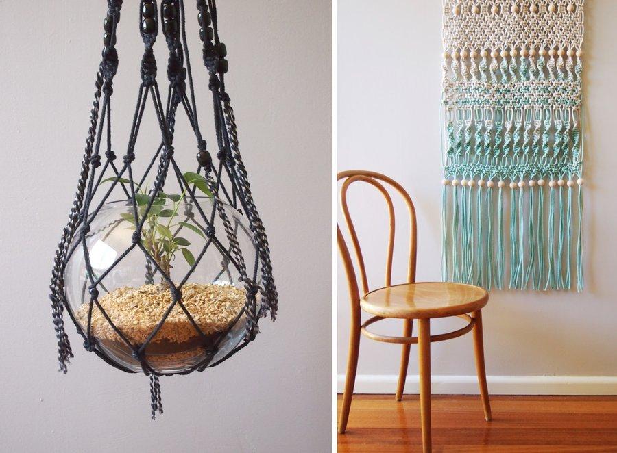 verliebt in knoten diy trend makramee. Black Bedroom Furniture Sets. Home Design Ideas