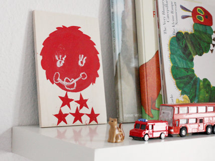 Wandgestaltung kinderzimmer ein gesicht aus tafelfarbe - Tafelfarbe kinderzimmer ...