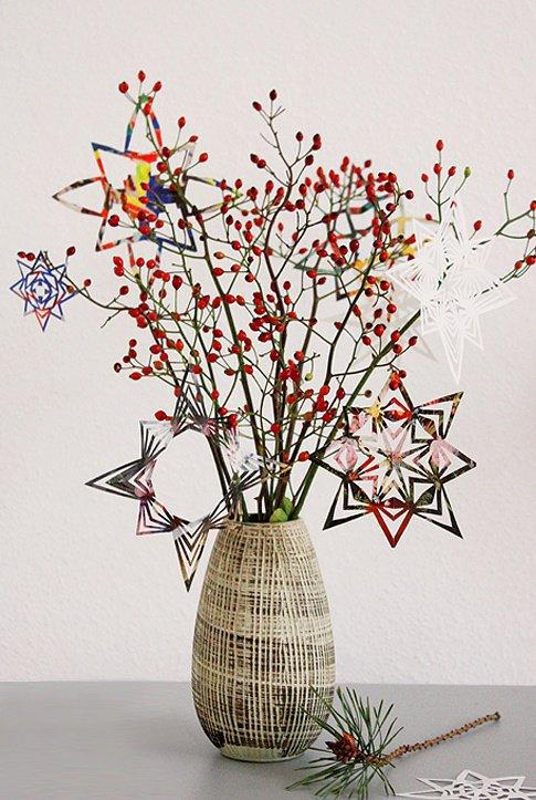 papiersterne basteln ein bastelprojekt f r gem tliche adventsstunden. Black Bedroom Furniture Sets. Home Design Ideas