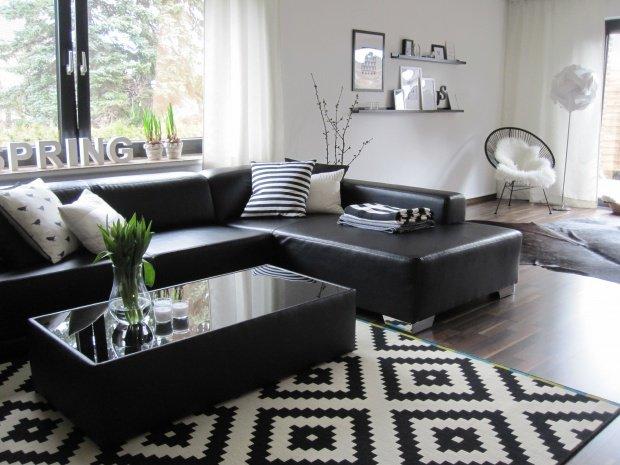 Wohnzimmer Weiß Grau Schwarz | rheumri.com