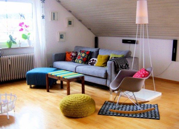 Kleine wohnzimmer gem tlich und vielseitig wer h tte das for Wohnzimmer zu klein