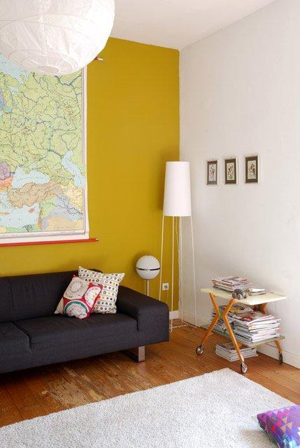 Im haus thema farben - Wandfarbe ocker ...