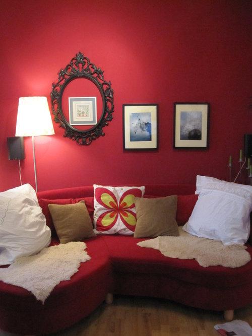 Wunderbar Wohnzimmer Farbe Sand Und Rot Kreative Bilder F R Zu