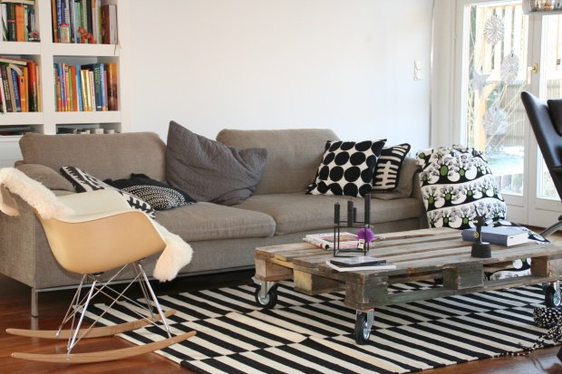 wandfarben wohnzimmer beige weiss - Wohnzimmer Schwarz Weis Lila