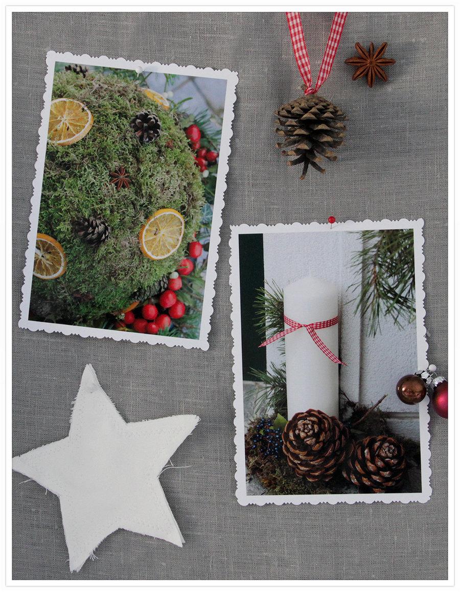 Weihnachtsdeko selber machen: weihnachtskugeln für draußen ...