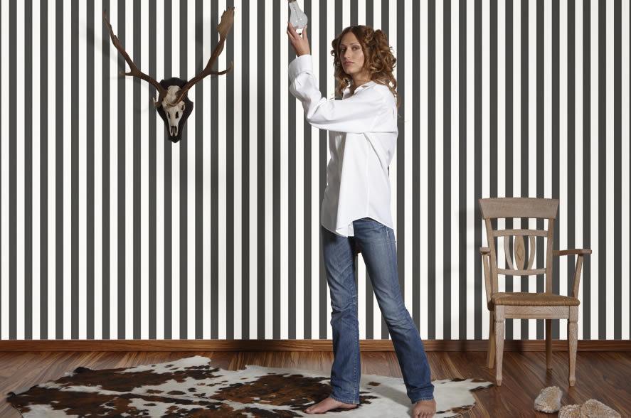 wandgestaltung in streifen: wände im streifenkleid | solebich.de, Moderne deko