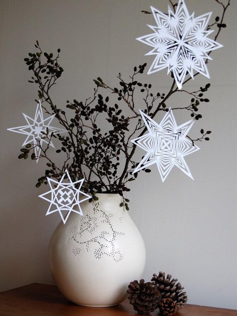Die sch nsten ideen f r weihnachtsdeko aus papier - Adventsdeko ideen ...