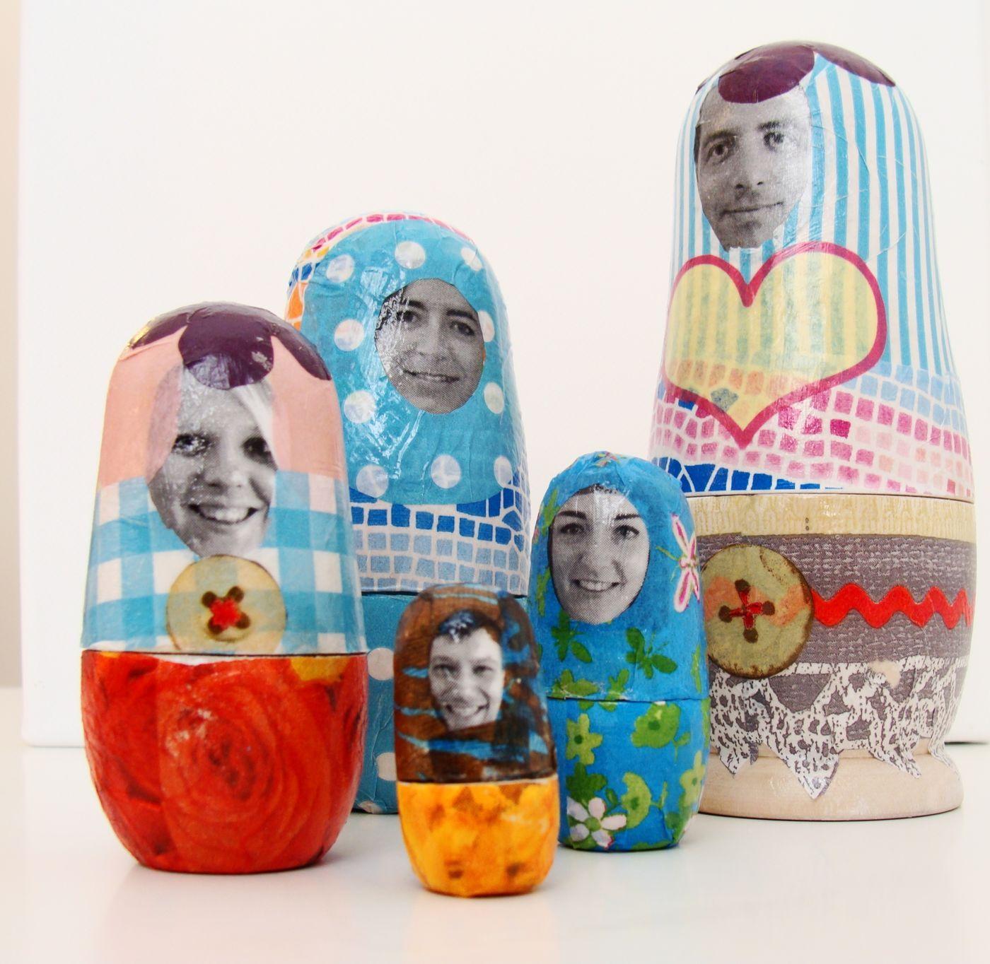 Geschenk Idee Zum Muttertag Matroschka Familie Zum