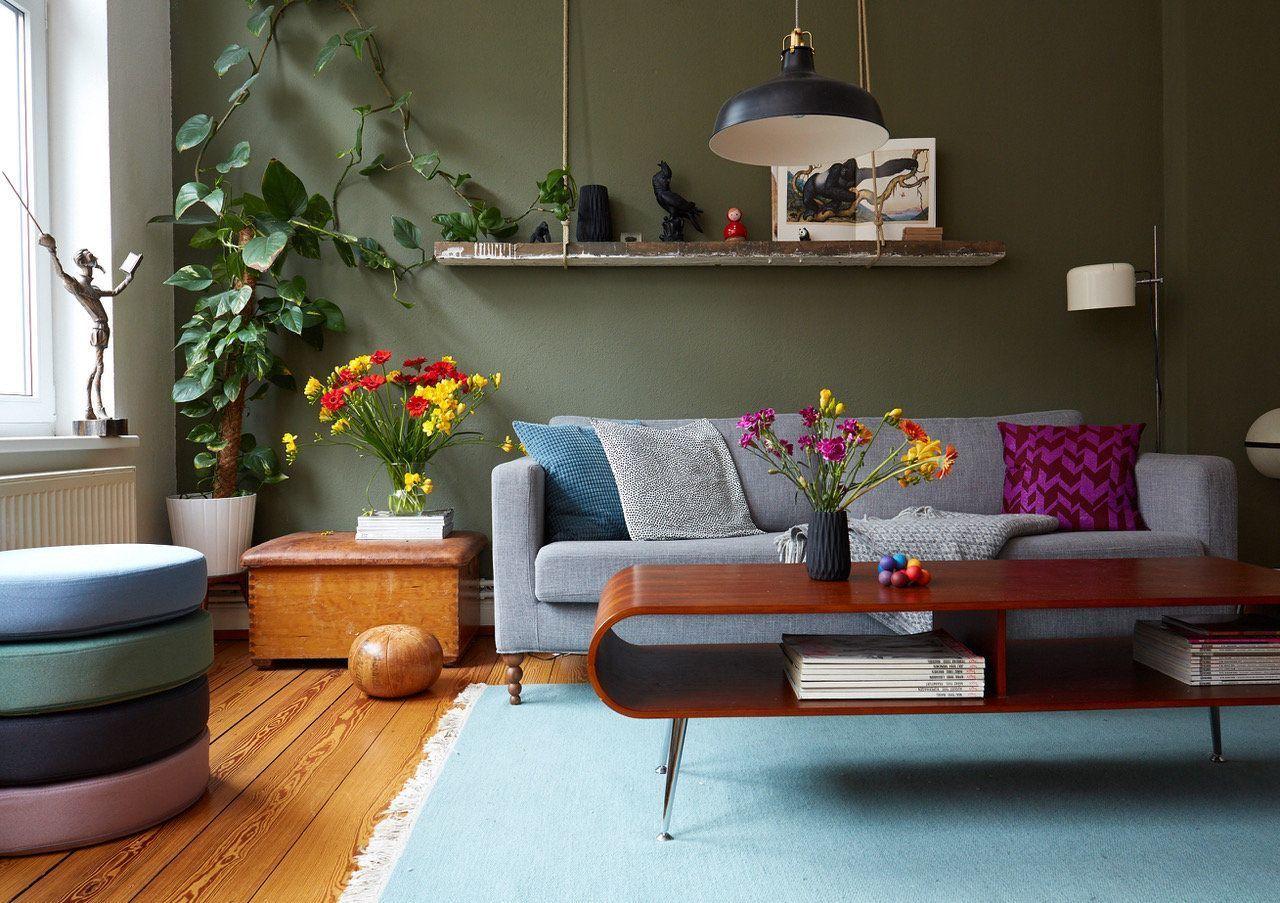 wandfarbe gr n die besten ideen und tipps zum streichen seite 3. Black Bedroom Furniture Sets. Home Design Ideas