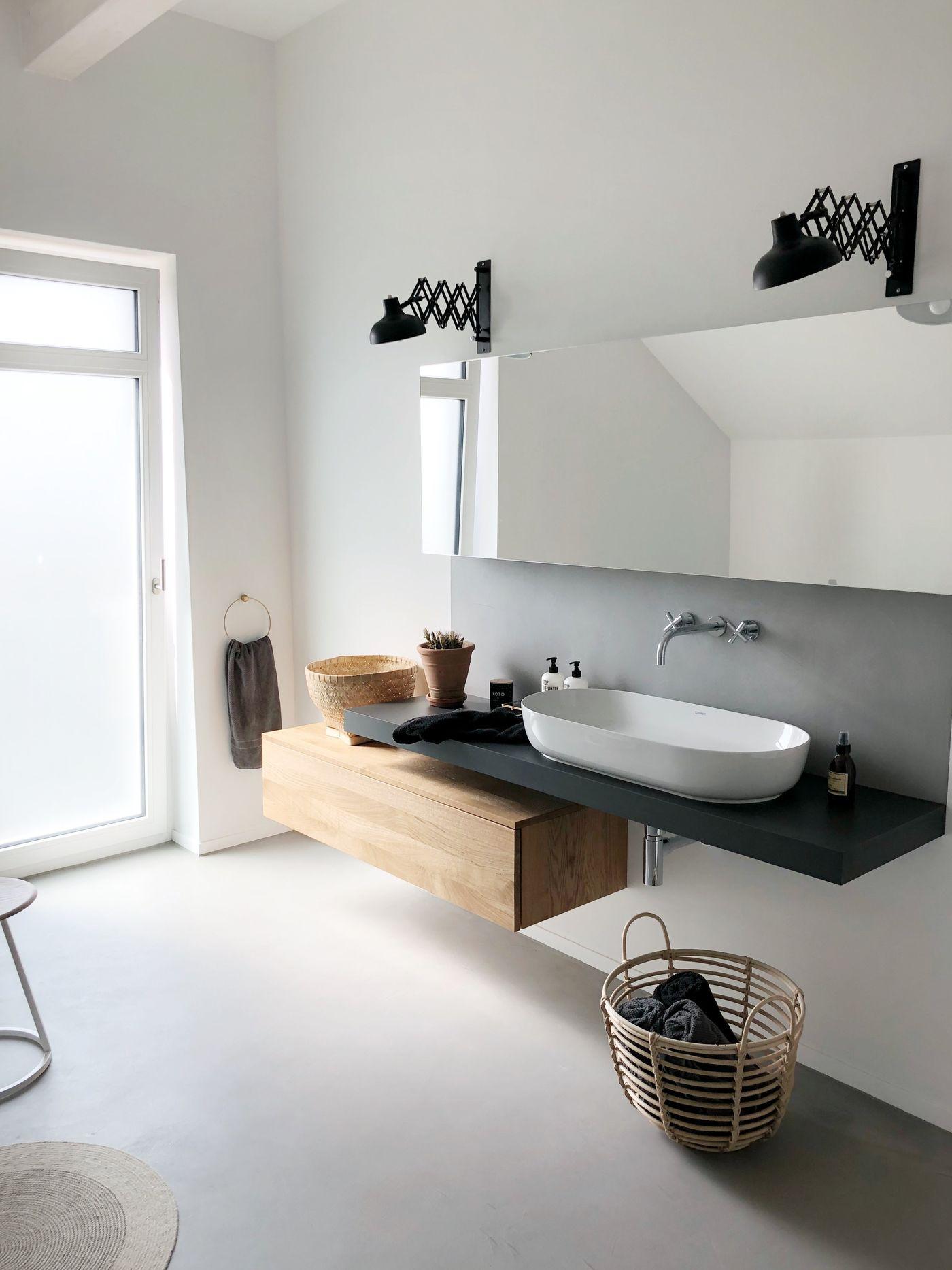 Wohnen einrichten und deko mit beton for Ideen zum badezimmer