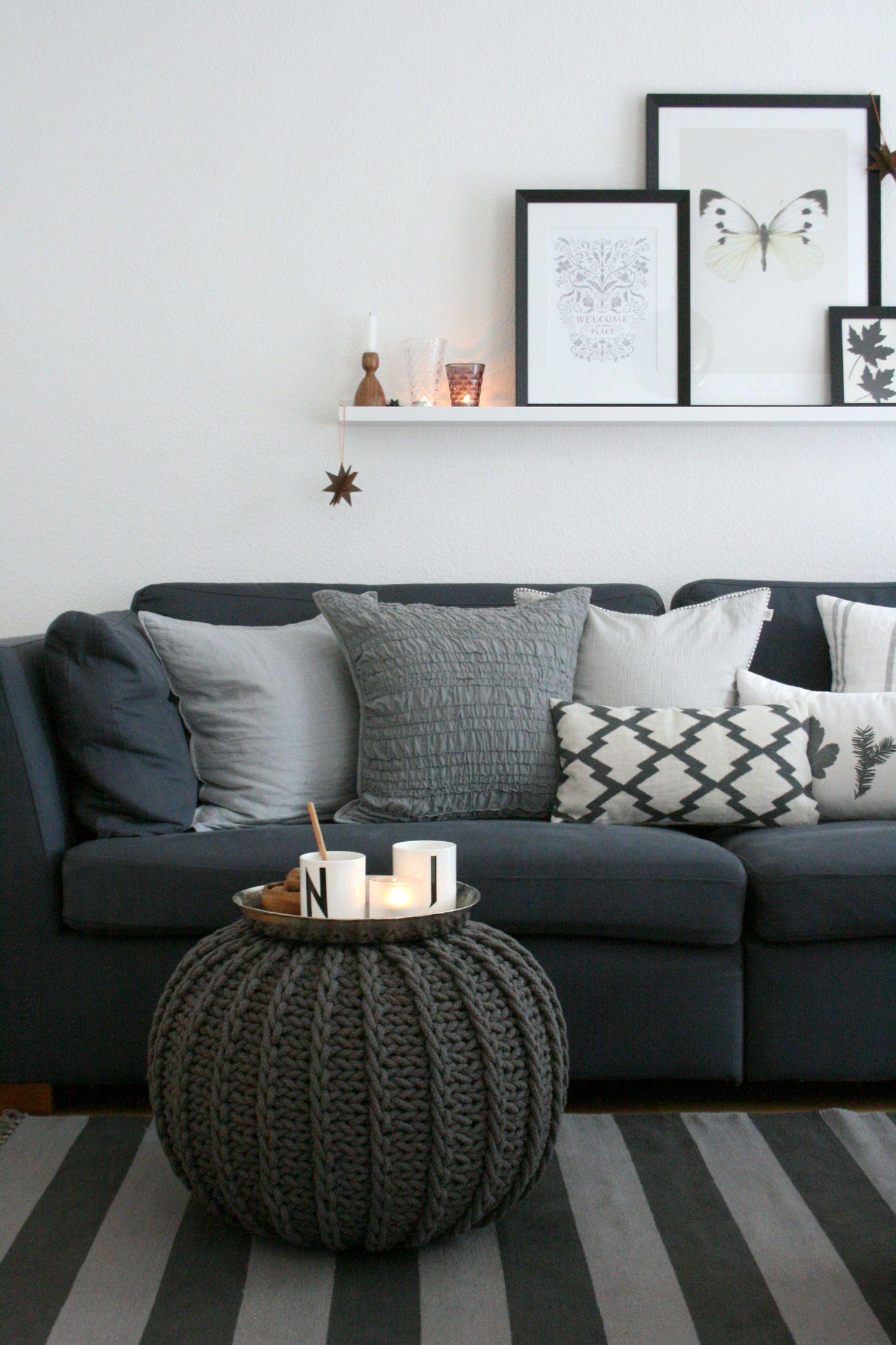 Wandgestaltung Wohnzimmer. Grau In Grau