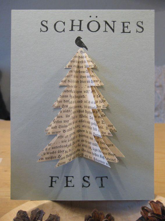 Weihnachtskarten Basteln Ideen Bilder
