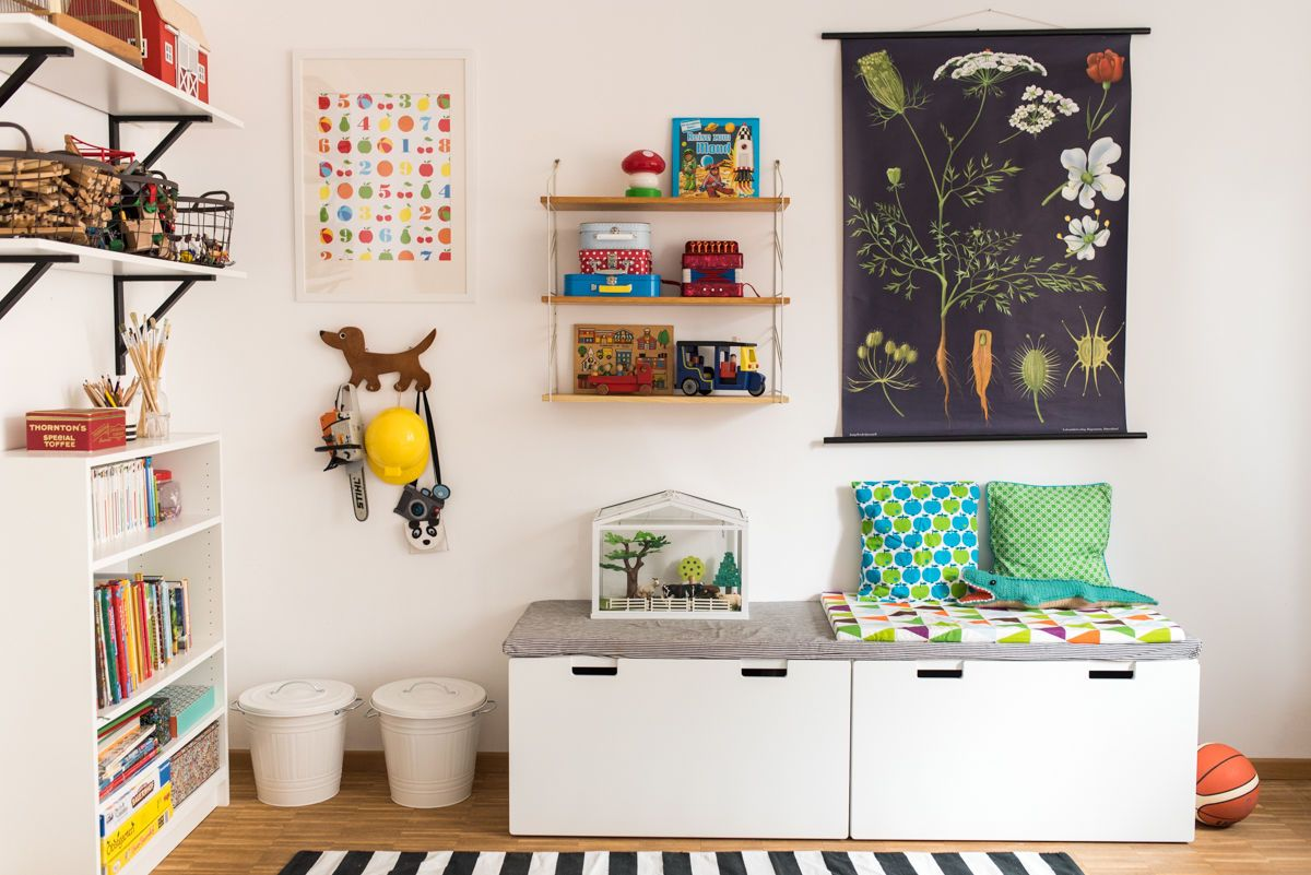 ideen f r stauraum und aufbewahrung im kinderzimmer. Black Bedroom Furniture Sets. Home Design Ideas