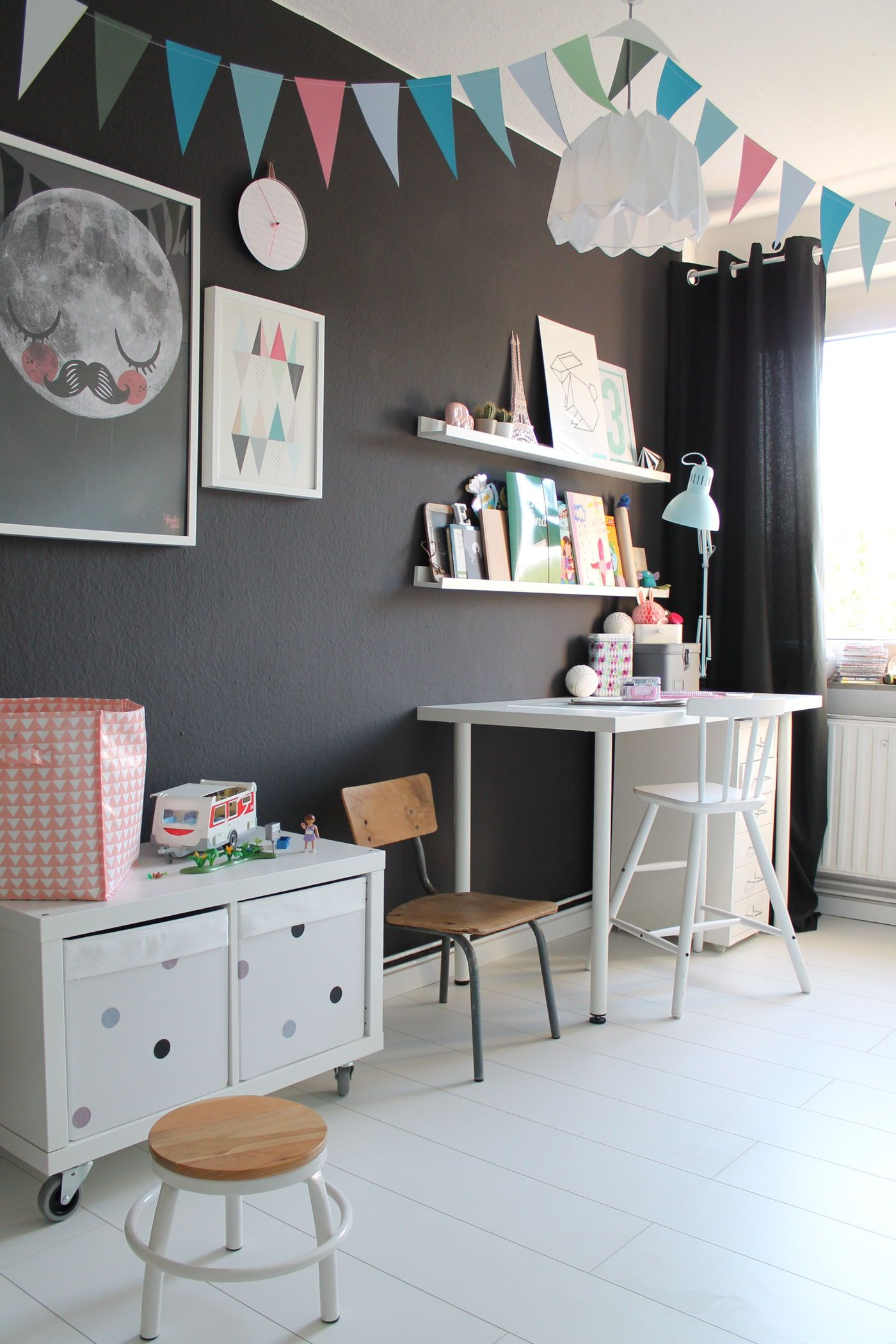 die sch nsten ideen f r die wandfarbe im kinderzimmer. Black Bedroom Furniture Sets. Home Design Ideas
