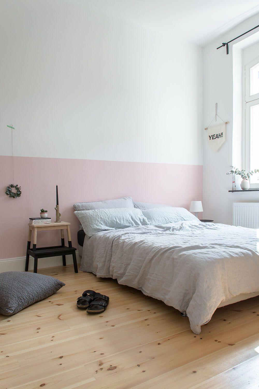 wandfarbe schlafzimmer eine rosa wand nieemals - Wandfarbe Schlafzimmer