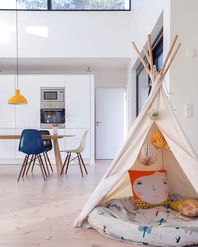 kindertraum ein tipi zelt im kinderzimmer. Black Bedroom Furniture Sets. Home Design Ideas