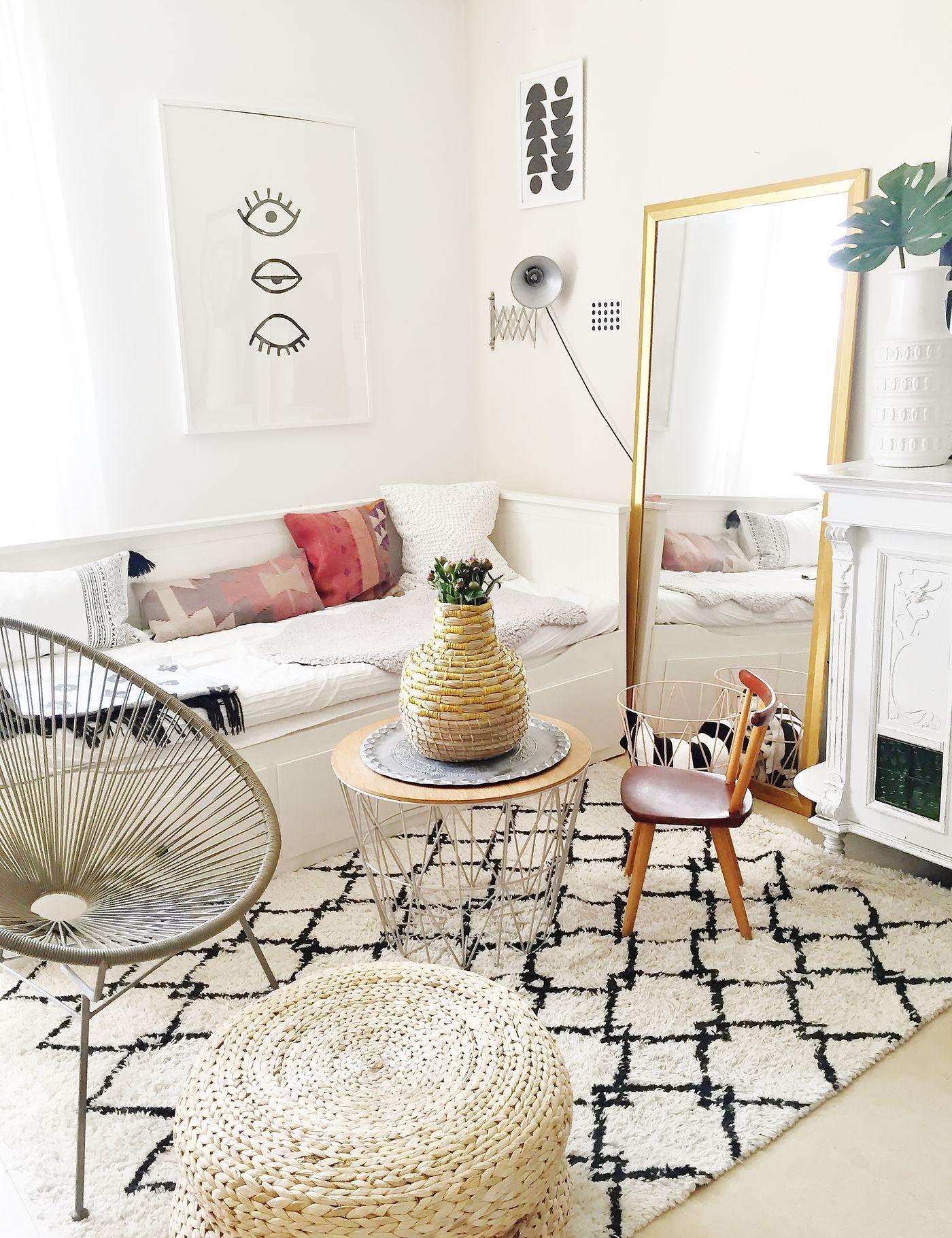 der boho chic wohnstil. Black Bedroom Furniture Sets. Home Design Ideas
