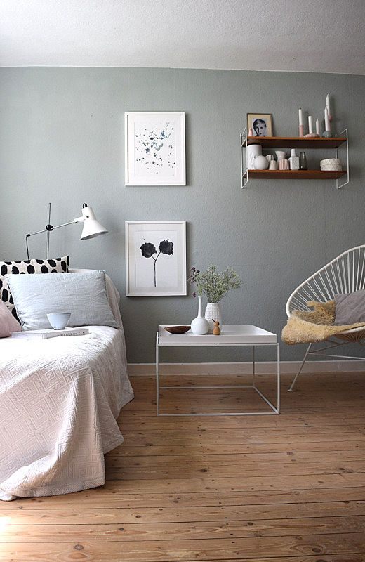 grau als wandfarbe dezent und edel. Black Bedroom Furniture Sets. Home Design Ideas