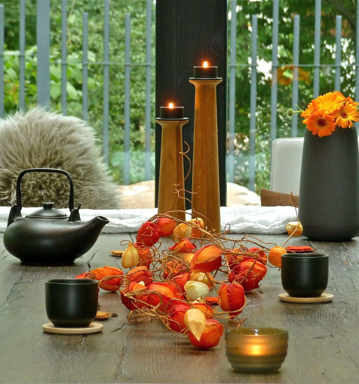 tischdeko herbst modern tischdeko herbst herbstliche. Black Bedroom Furniture Sets. Home Design Ideas
