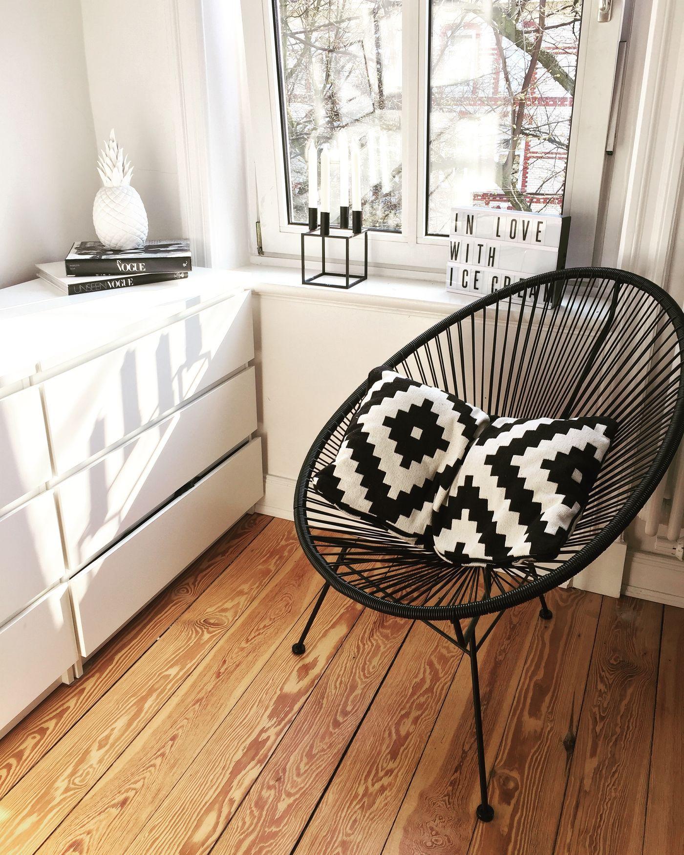Ikea Malm Kommode. Wohnzimmerecke