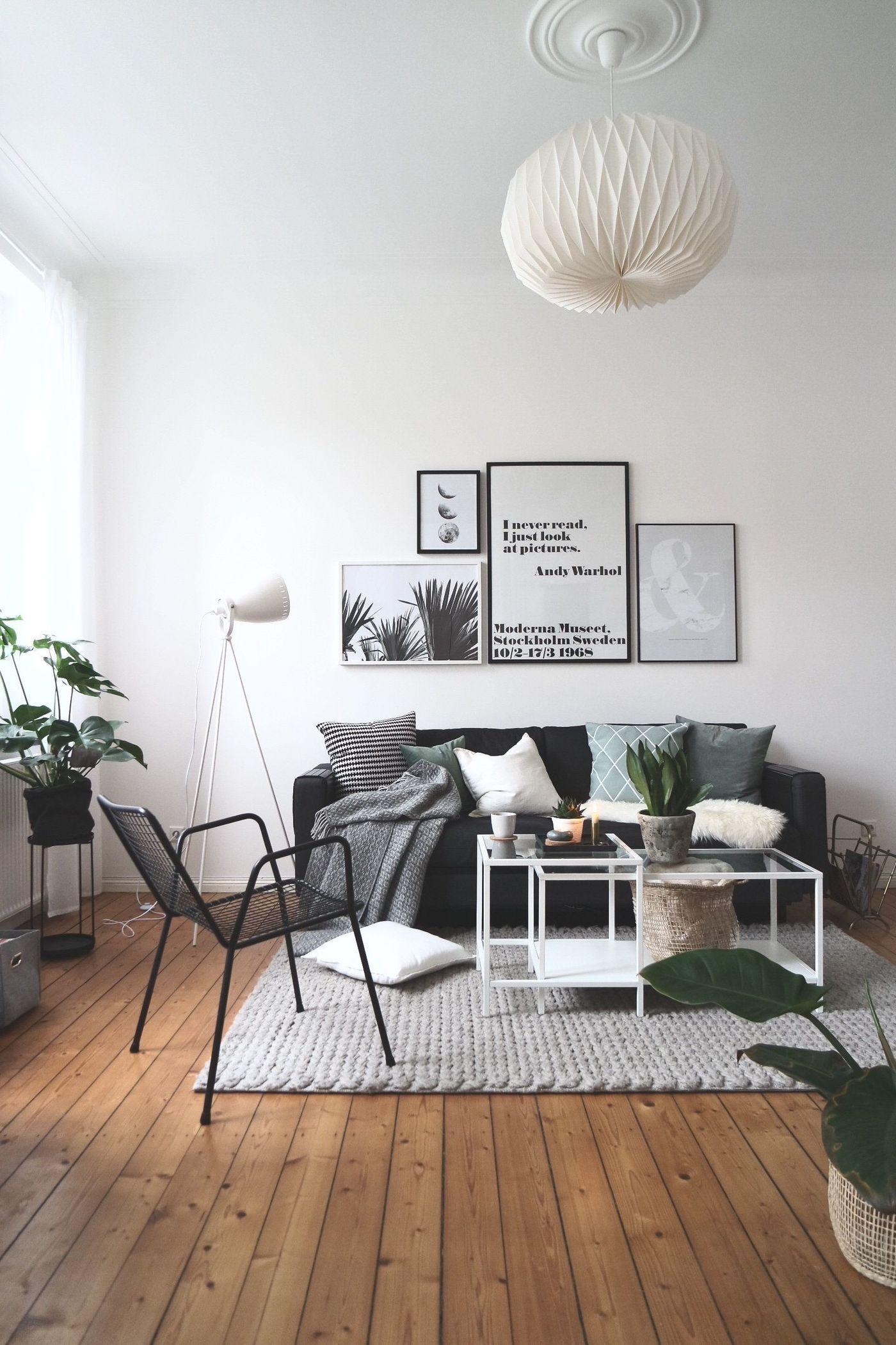 Schwarz Weiß dekorieren und einrichten