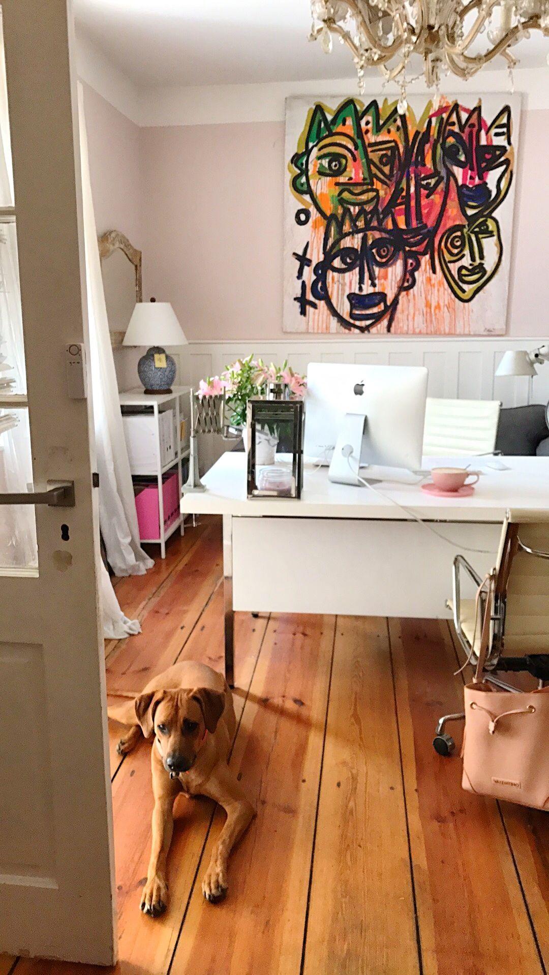 Wandgestaltung Arbeitszimmer. Rosa Büro Zur Beruhigung ?