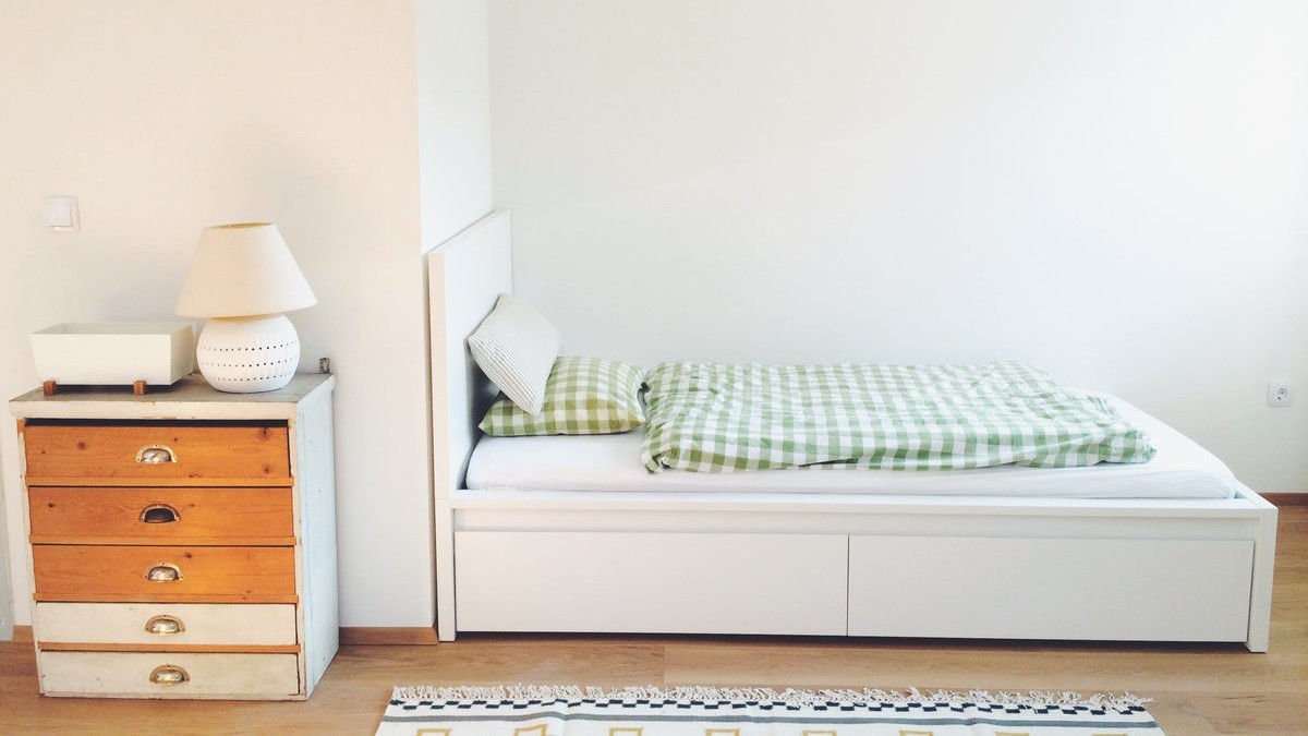 ikea einzelbett weiß