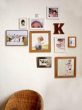 Wandgestaltung mit bildern - Bilderwand wohnzimmer ...