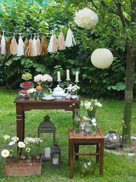 Sch ne partydeko f r jede feier ein muss - Hochzeit gartenparty ...