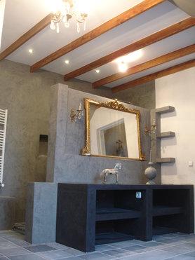 Unser Neues Bad In Beton Cire