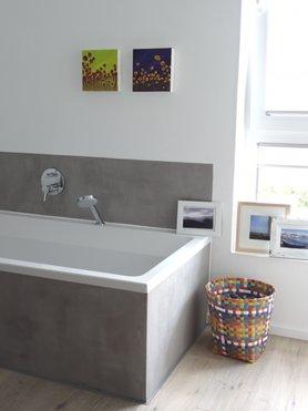 beton cir wandgestaltung mit effektputz in betonoptik. Black Bedroom Furniture Sets. Home Design Ideas