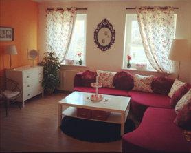 Wohnzimmer Landhaus Shabby Rotweiss