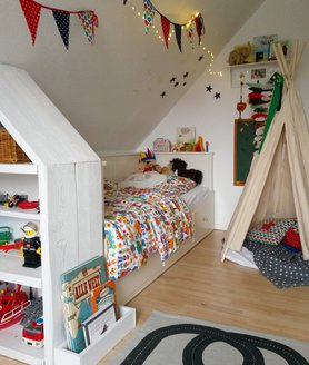 kindertraum ein tipi zelt im kinderzimmer. Black Bedroom Furniture Sets. Home Design Ideas