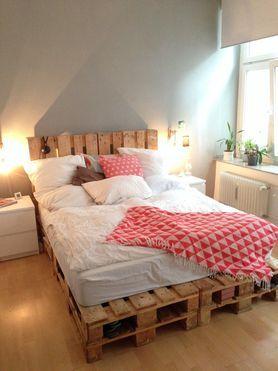 Betten selber bauen die besten ideen und tipps - Palettenbett selber bauen ...
