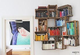 Bücherregal aus weinkisten  Regale selber bauen: Die besten Tipps und Ideen