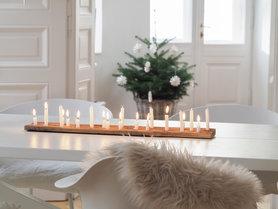 Kerzenlicht Liebe Mein Weihnachtliches Kerzenbrett DIY
