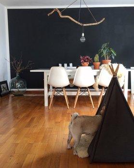 Wandfarbe Schwarz   Die Besten Ideen Für Dunkle Wände   Zimmer Schwarz  Streichen