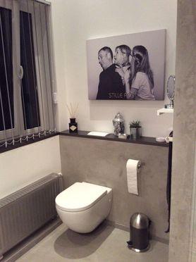 Badezimmer Mit Betonspachtelung