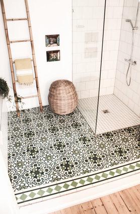 Begehbare Dusche.