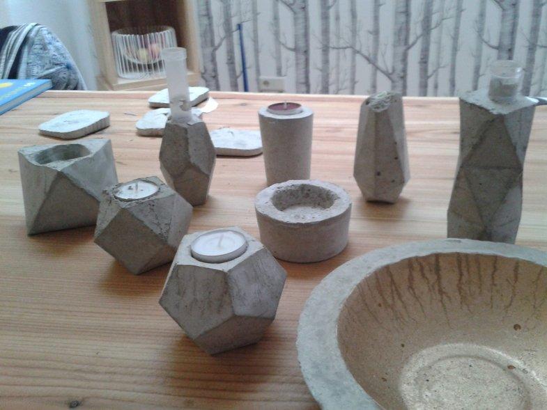 Formen Beton Gießen bastelideen mit beton tipps und tricks zum betongießen solebich de
