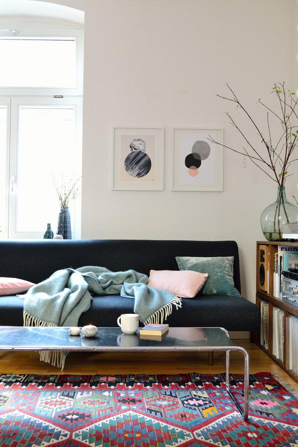 Vintage wohnzimmer einrichten und dekorieren - Poster wohnzimmer ...