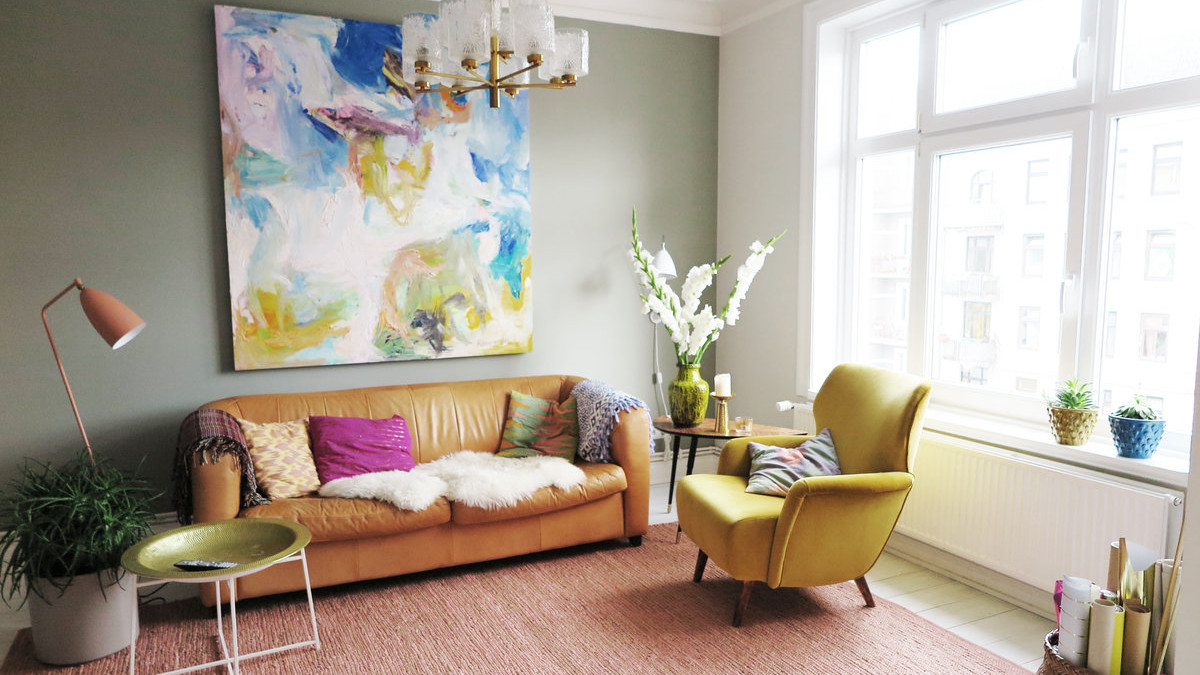 wohnzimmergestaltung mit farbigen mobeln, die schönsten ideen für die wandfarbe im wohnzimmer, Ideen entwickeln